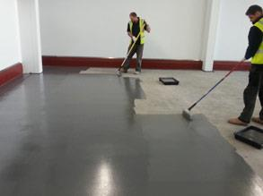 Belzona 5231 (SG Laminate) applied to the floor
